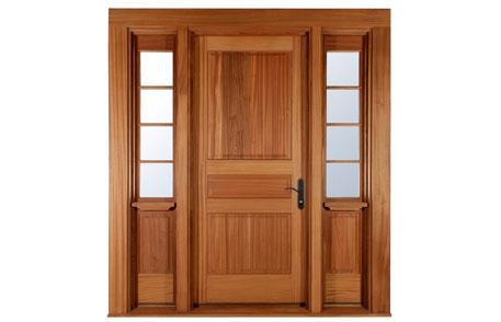 Porte de bois d 39 entr e lepage millwork - Modele porte en bois interieur ...
